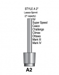 "Style A - 2"" Shaft Lassco Spinnit Hollow Paper Drill"