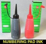 1oz Bottle Red/Black Ink for Ink Pad